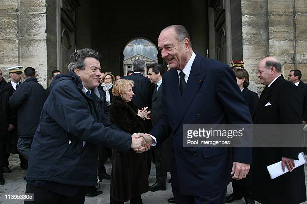 Nicolas Sarkozy at Lazare Ponticelli's funeral ceremony at the Invalides in Paris France on March 17 2008JeanLouis Borloo and Former President...