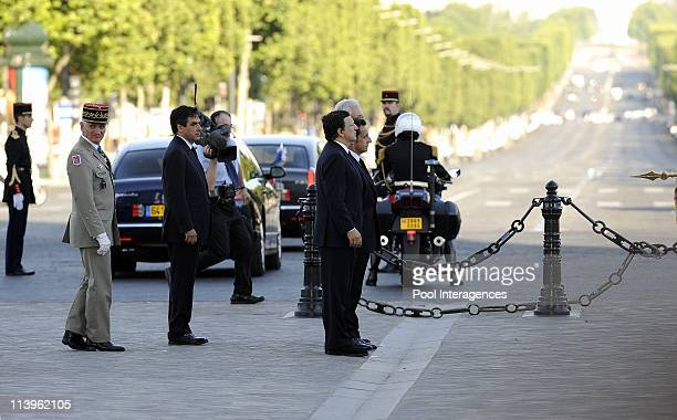 Nicolas Sarkozy at the ceremony marking the first day of France's six-month presidency of the European Union in Paris, France on July 01, 2008-The...