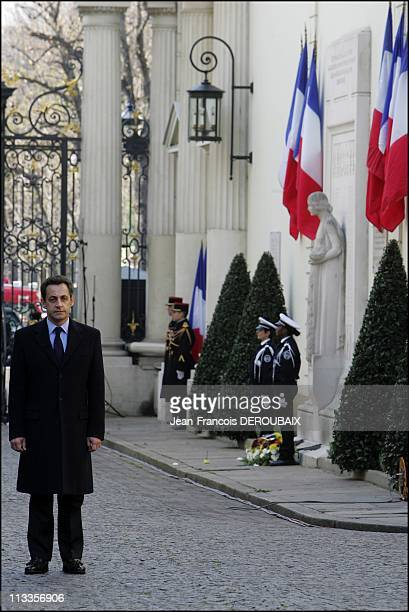 Nicolas Sarkozy Leaves The Interior Minister To Francois Baroin In Paris, France On March 26, 2007 - Nicolas Sarkozy has stepped down as France's...