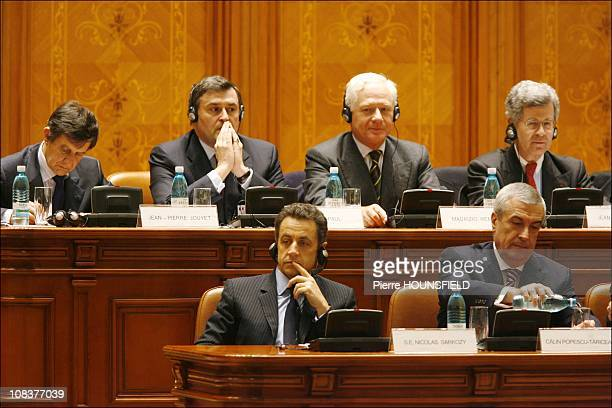 Nicolas Sarkozy Maurizio Remmert in Bucarest Romania on February 04th 2008