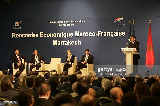 Nicolas Sarkozy Official Travel In Morocco Visite d'Etat de trois jours de Nicolas SARKOZY au Maroc discours de Nicolas SARKOZY en présence de...