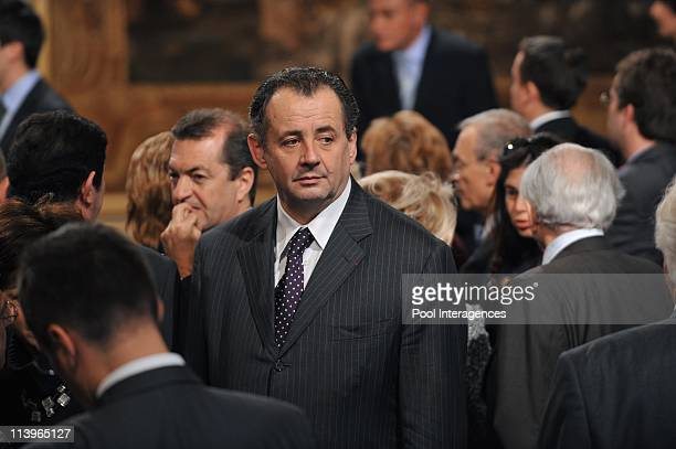 Nicolas Sarkozy receives the Political Courage Award In Paris France On November 13 2008Guillaume Sarkozy during the ceremony of the Political...