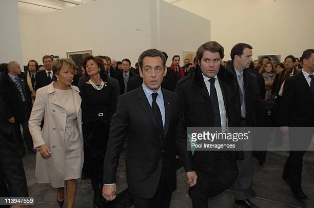 Nicolas Sarkozy visits the Ullens Center In Beijing China On November 26 2007Nicolas Sarkozy and Franck Louvrier France's President Nicolas Sarkozy...
