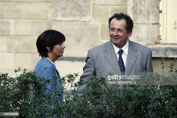 Nicolas Sarkozy's brother Guillaume Sarkozy and his wife in NeuillysurSeine France on September 10th 2008