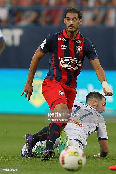 Nicolas Seube of Caen during the French Ligue 1 match between SM Caen an Bastia at Stade Michel D'Ornano on August 27 2016 in Caen France