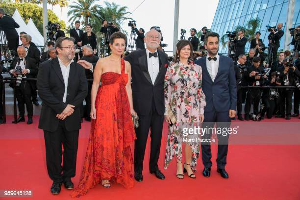 Nicolas Seydoux and guests attend the screening of 'Capharnaum' during the 71st annual Cannes Film Festival at Palais des Festivals on May 17 2018 in...