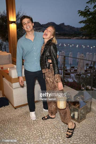 Nicolas Sharp and AnnaSophie Mungenast attend the Bodrum EDITION opening of the 2019 season on May 17 2019 in Bodrum Turkey
