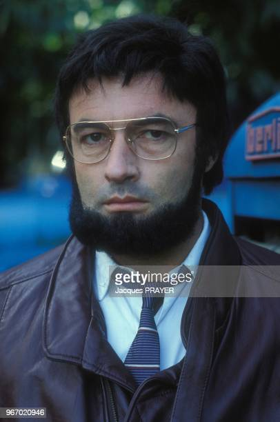 Nicolas Silberg lors du tournage du film 'Mesrine' realise par Andre Genoves le 26 janvier 1984 a Paris France