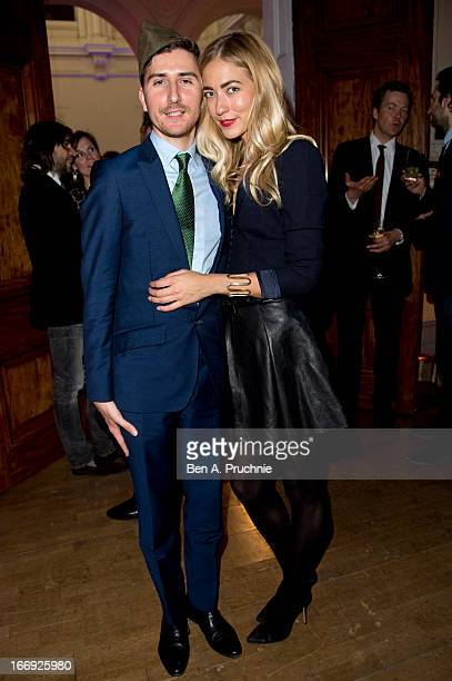 Nicolas Smirnoff and Alina Kohlem attend a private View and VEDay Party For Calder After The War at Pace London Gallery on April 18 2013 in London...