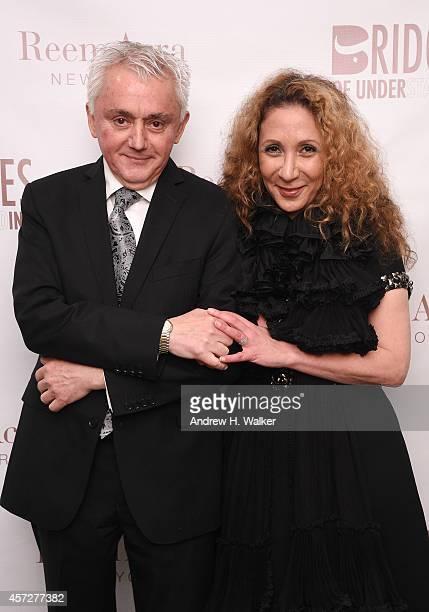Nicolas Tabbal and designer Reem Acra attend Bridges Of Understanding's annual 'Building Bridges' award dinner honoring designer Reem Acra with...