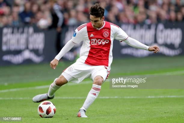 Nicolas Tagliafico of Ajax during the Dutch Eredivisie match between Ajax v AZ Alkmaar at the Johan Cruijff Arena on October 7 2018 in Amsterdam...