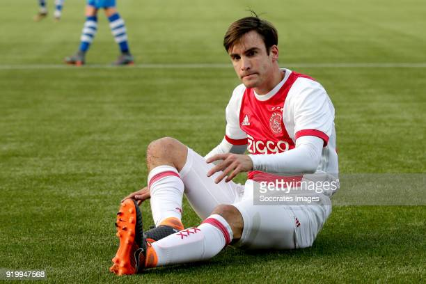 Nicolas Tagliafico of Ajax during the Dutch Eredivisie match between PEC Zwolle v Ajax at the MAC3PARK Stadium on February 18 2018 in Zwolle...