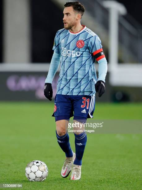 Nicolas Tagliafico of Ajax during the Dutch KNVB Beker match between AZ Alkmaar v Ajax at the AFAS Stadium on January 20, 2021 in Alkmaar Netherlands
