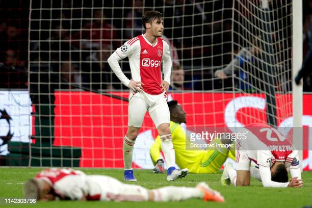 Nicolas Tagliafico of Ajax during the UEFA Champions League match between Ajax v Tottenham Hotspur at the Johan Cruijff Arena on May 8 2019 in...