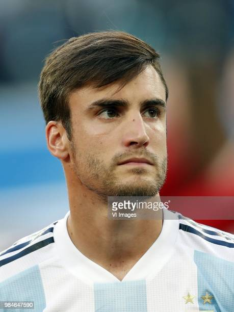 Nicolas Tagliafico of Argentina during the 2018 FIFA World Cup Russia group D match between Nigeria and Argentina at the Saint Petersburg Stadium on...