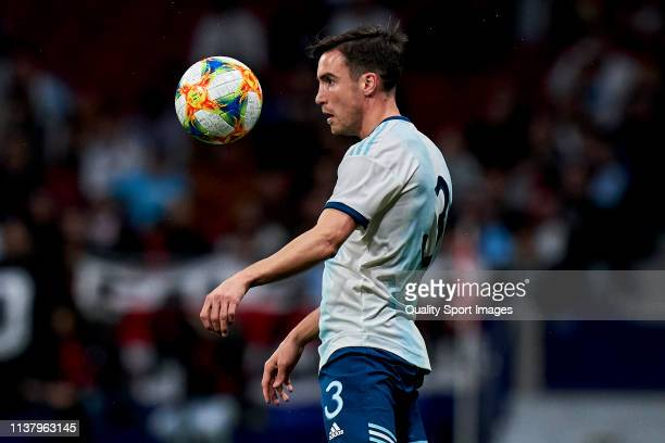 Nicolas Tagliafico of Argentina in action during the international friendly match between Argentina and Venezuela at Estadio Wanda Metropolitano on...