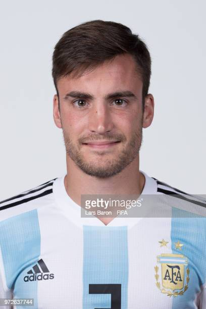 Nicolas Tagliafico of Argentina poses for a portrait during the official FIFA World Cup 2018 portrait session on June 12 2018 in Moscow Russia