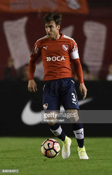 Nicolas Tagliafico of Independiente drives the ball during a second leg match between Independiente and Atletico Tucuman as part of round of 16 of...