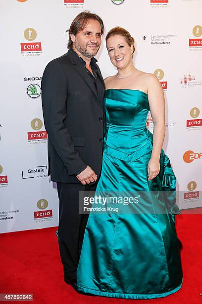 Nicolas Teste and Diana Damrau attend the ECHO Klassik 2014 on October 26 2014 in Munich Germany