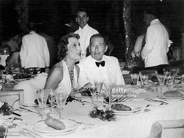 Nicolas Titulesco The Romanian Minister Of Foreign Affairs And Permanent Delegate To The League Of Nations And His Wife Catherine At A Reception...