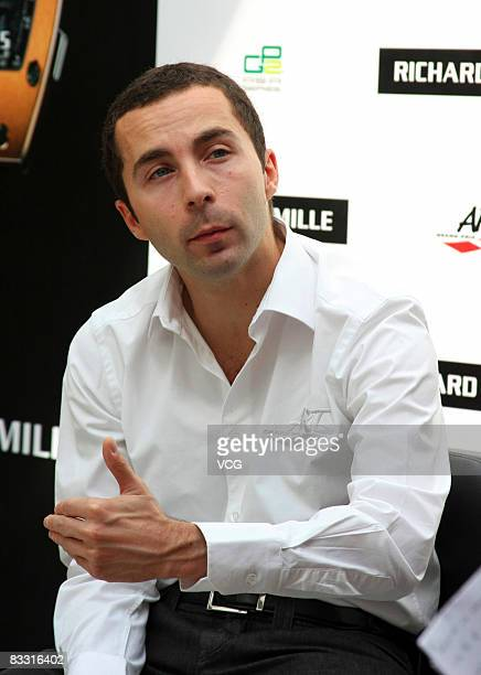 Nicolas Todt of the ART GP2 team attends a press conference on October 16 2008 in Shanghai China
