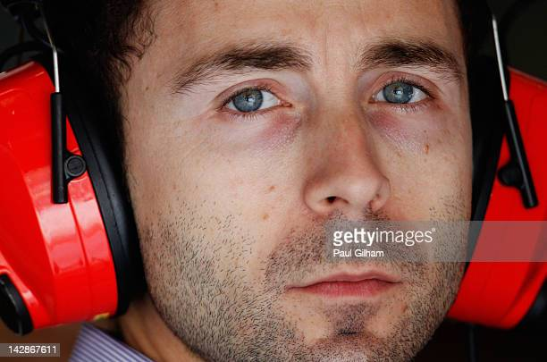 Nicolas Todt the manager of Felipe Massa is seen in the Ferrari garage during qualifying for the Chinese Formula One Grand Prix at the Shanghai...