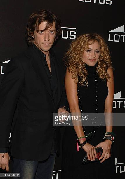 Nicolas Vallejo Najera and Paulina Rubio during Paulina Rubio Launches New Lotus Watches Collection September 17 2005 at Budha Club in Madrid Spain