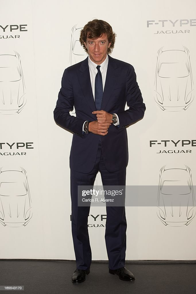Nicolas Vallejo Najera presents the new Jaguar F-Type at the Museo del Traje on April 4, 2013 in Madrid, Spain.