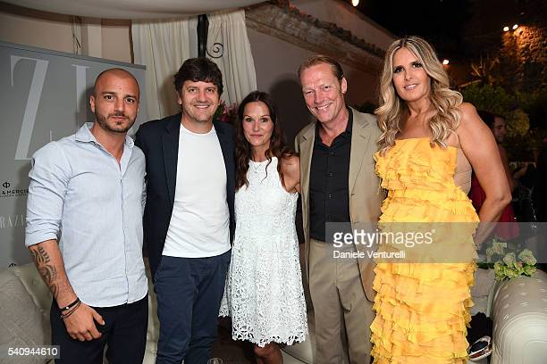 Nicolas Vaporidis Fabio De Luigi Charlotte Emmerson Iain Glen and Tiziana Rocca attend Baume Mercier 62 Taormina Film Fest on June 17 2016 in...