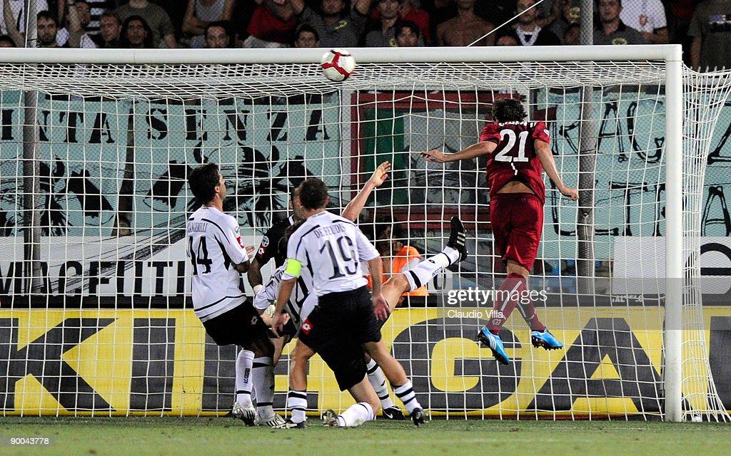 Nicolas Viola of Reggina score the goal during the Serie B ...