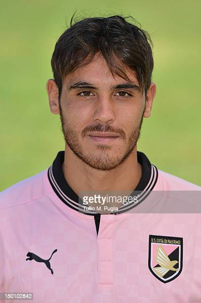 Nicolas Viola of US Citta di Palermo poses during a portrait session for the team's official headshots at Campo Tenente Onorato on August 10 2012 in...
