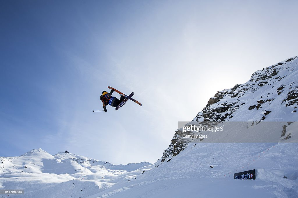Nicolas Vuignier of Switzerland and Team Europe competes during day 5 of the Swatch Skiers Cup on February 14, 2013 in Zermatt, Switzerland.