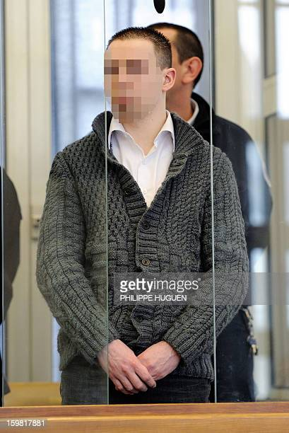 Nicolas Willot the companion of Anne Sophie Faucheur arrives at the Douai courthouse northern France on January 21 before his trial and that of the...