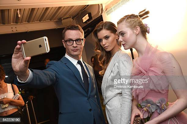 Nicolas Winding Refn Abbey Lee and Elle Fanning attend 'The Neon Demon' New York Premiere at Metrograph on June 22 2016 in New York City