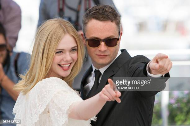Nicolas Winding Refn and Elle Fanning attend 'The Neon Demon' Photocall during the 69th annual Cannes Film Festival at the Palais des Festivals on...