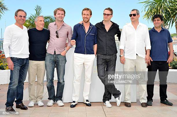 Nicolas Winding Refn Ryan Gosling Mat Newman Marc Platt Adam Siegel and Michel Litvak at the photo call for 'Drive' during the 64th Cannes...