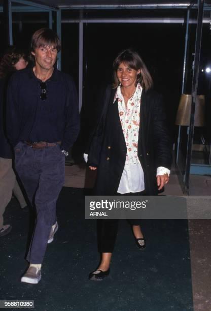 Nicolat Hulot et Dominique Cantien lors de la soirée pour les 10 ans de TF1 en juin 1990