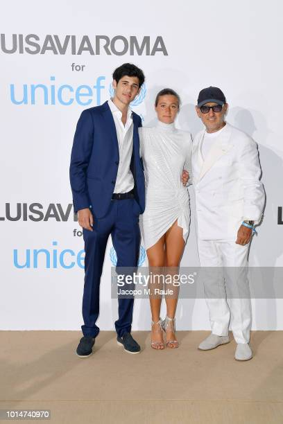 Nicolaus Panconesi Annagreta Panconesi and Andrea Panconesi attend a photocall for the Unicef Summer Gala Presented by Luisaviaroma at Villa Violina...