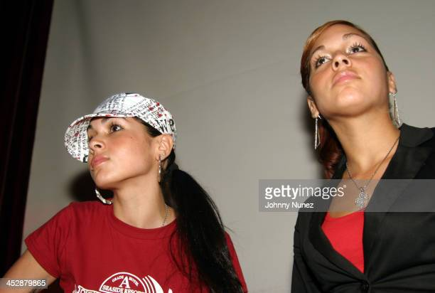 Nicole Albino and Natalie Albino of Nina Sky during Alchemist Album Realease Party and Concert September 22 2004 at SOB in New York City New York...