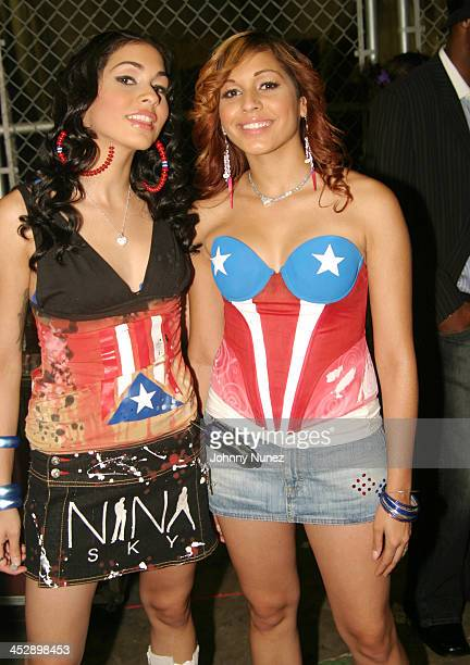 Nicole Albino and Natalie Albino of Nina Sky during The 2004 Source Awards Inside at James E Knight Theater in Miami Florida United States