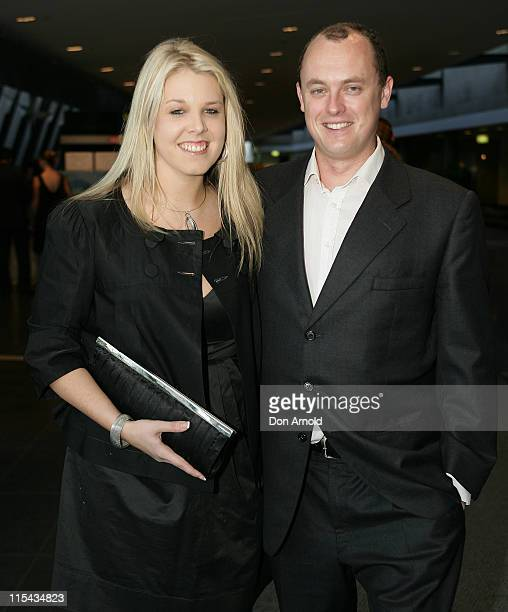 Nicole Alexander and Gavin Lockley arrive at the preshow drinks reception ahead of the ARIA Fine Arts Awards at the Sydney Conservatorium of Music on...
