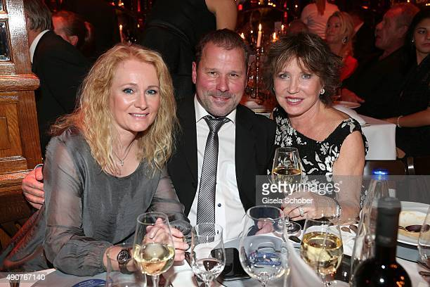 Nicole and her husband Winfried Seibert Dunja Siegel during Ralph Siegel's 70th birthday party at Schuhbeck's Teatro on September 30 2015 in Munich...