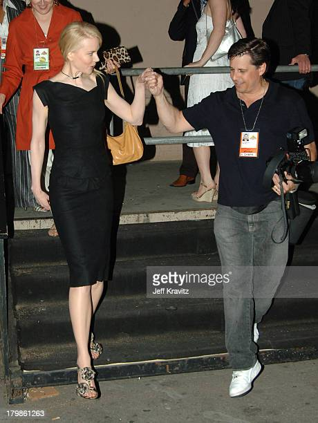 Nicole and Kevin Mazur during 2005 MTV Movie Awards Backstage and Audience at Shrine Auditorium in Los Angeles California United States