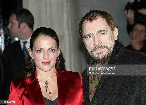 Nicole Ansari and Brian Cox during The South Bank Show Awards Arrivals at The Savoy Hotel in London United Kingdom
