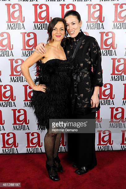 Nicole Ansari and Mia Yoo attend the 2013 La MaMa DIY gala at La MaMa Annex on November 21 2013 in New York City
