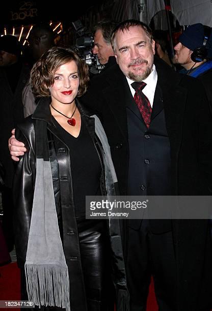 Nicole Ansari Brian Cox during 25th Hour New York City Premiere Arrivals at Ziegfeld Theater in New York City New York United States