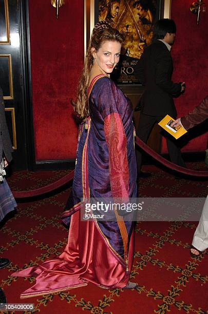 Nicole Ansari during Troy New York Premiere Inside Arrivals at Zeigfeld Theater in New York City New York United States