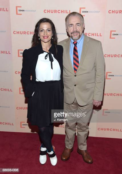 Nicole AnsariCox and actor Brian Cox attend the Churchill New York Premiere at the Whitby Hotel on May 22 2017 in New York City