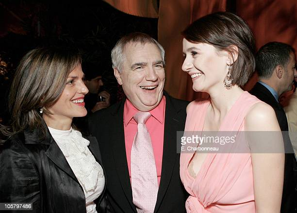 Nicole AnsariCox Brian Cox and Emily Mortimer during Dreamworks' Match Point Los Angeles Premiere at LACMA in Los Angeles California United States