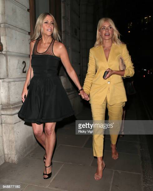 Nicole Appleton and Holly Willoughby seen attending English National Opera at Gibson Hall on April 19 2018 in London England